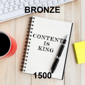 Content Writer Bronze 1500 - Monthly Subscription