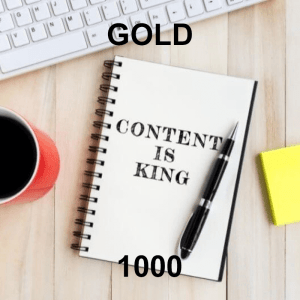 Content Writer Gold 1000 - 8 Pack - Monthly Subscription