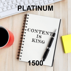 Content Writer Platinum 1500 - 12 Pack - Monthly Subscription