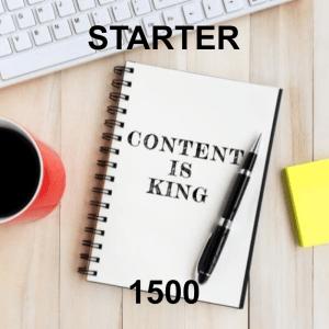 Conent Writer Starter 1500